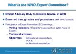 what is the who expert committee