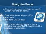 mengirim pesan