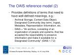 the oais reference model 2