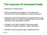 the sources of increased trade