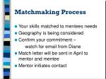 matchmaking process
