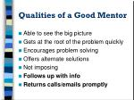 qualities of a good mentor6