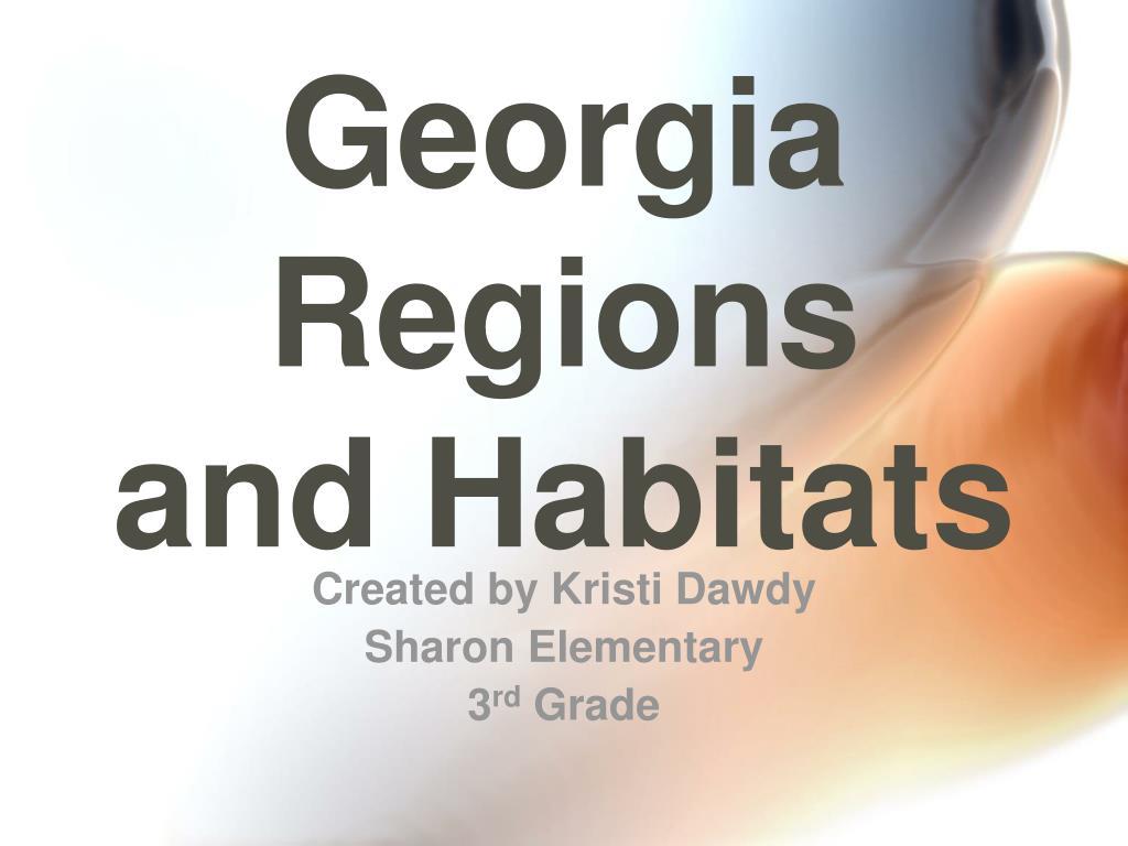 georgia regions and habitats l.