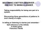 becoming a better observer one key to being a leader