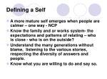 defining a self