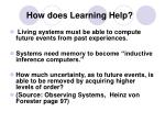 how does learning help