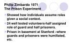 philip zimbardo 1971 the prison experiment