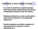 sensitivity in one s family of origin
