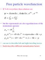 free particle wavefunction