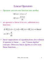 linear operators