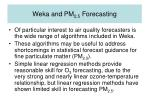 weka and pm 2 5 forecasting