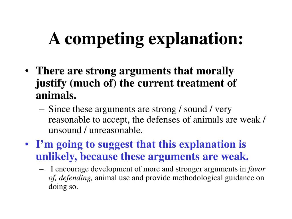 A competing explanation: