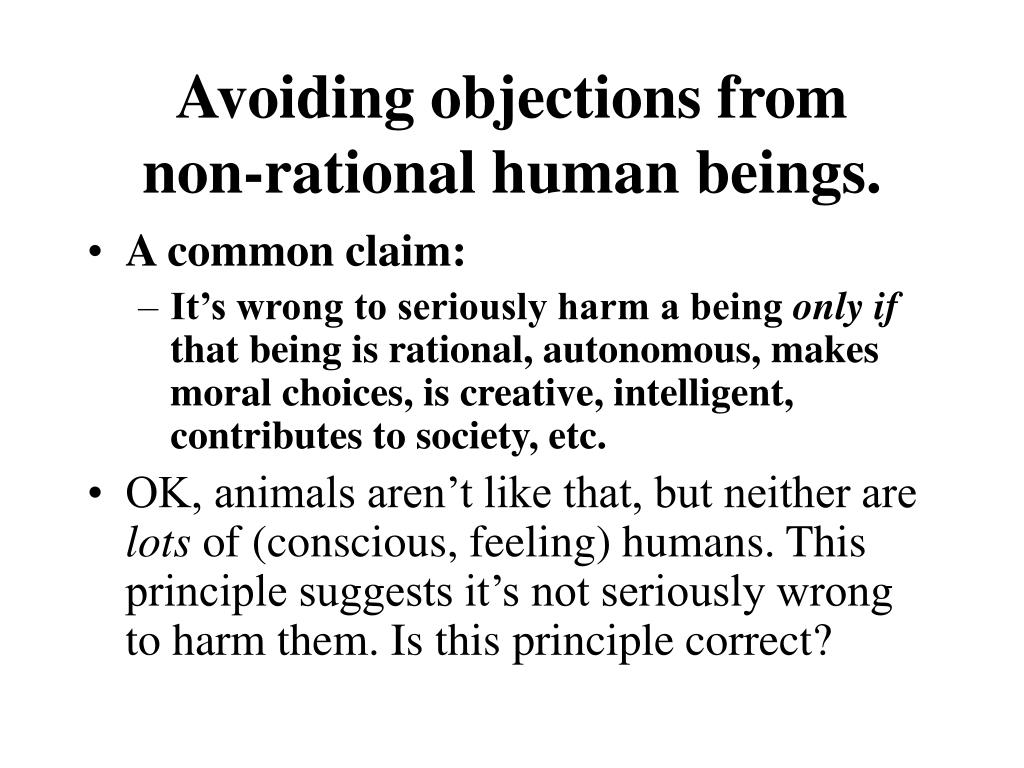Avoiding objections from