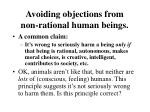 avoiding objections from non rational human beings