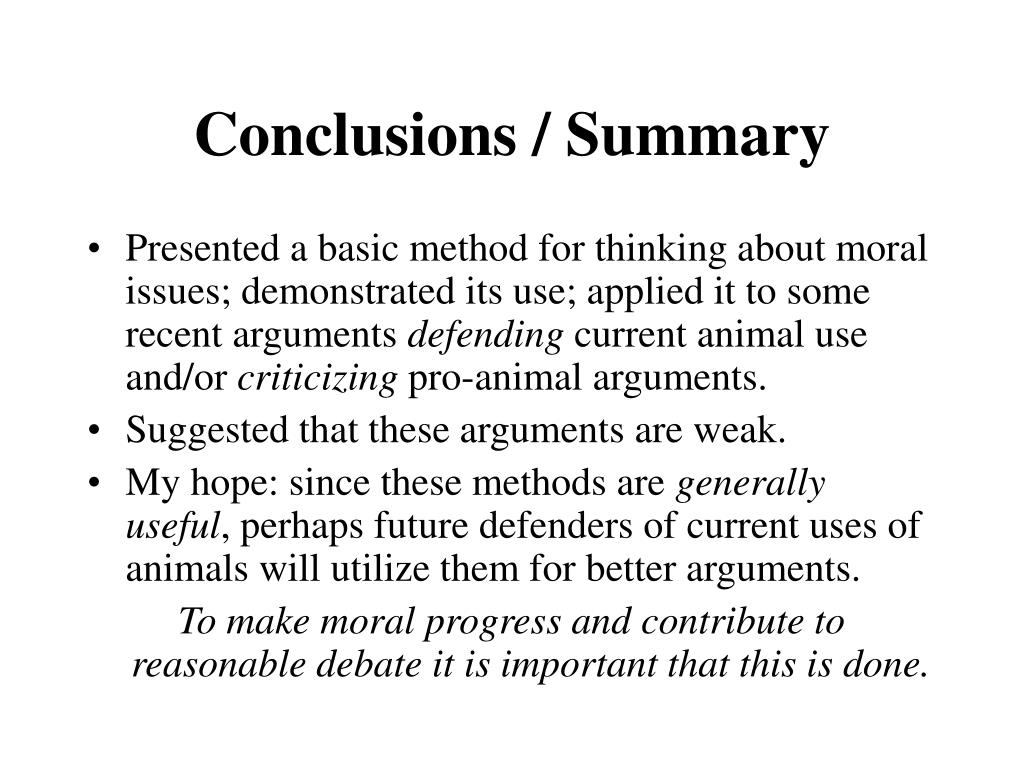 Conclusions / Summary