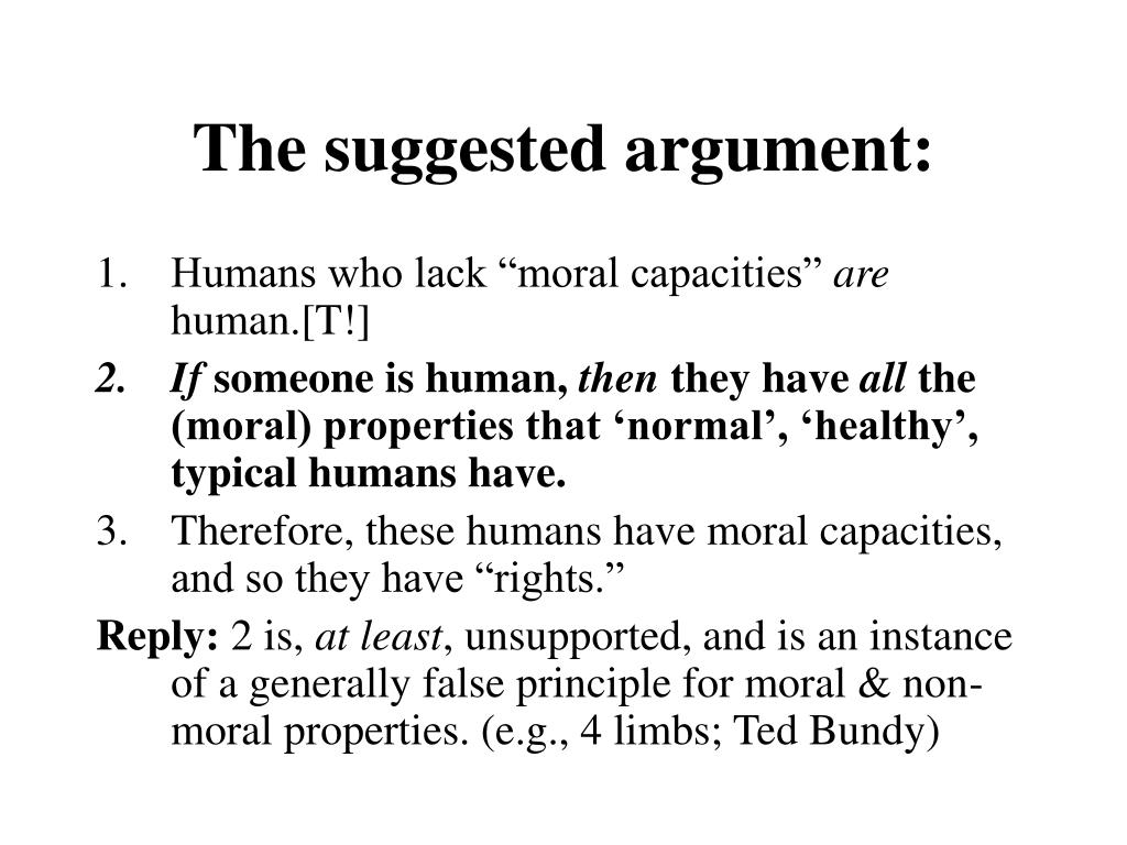 The suggested argument: