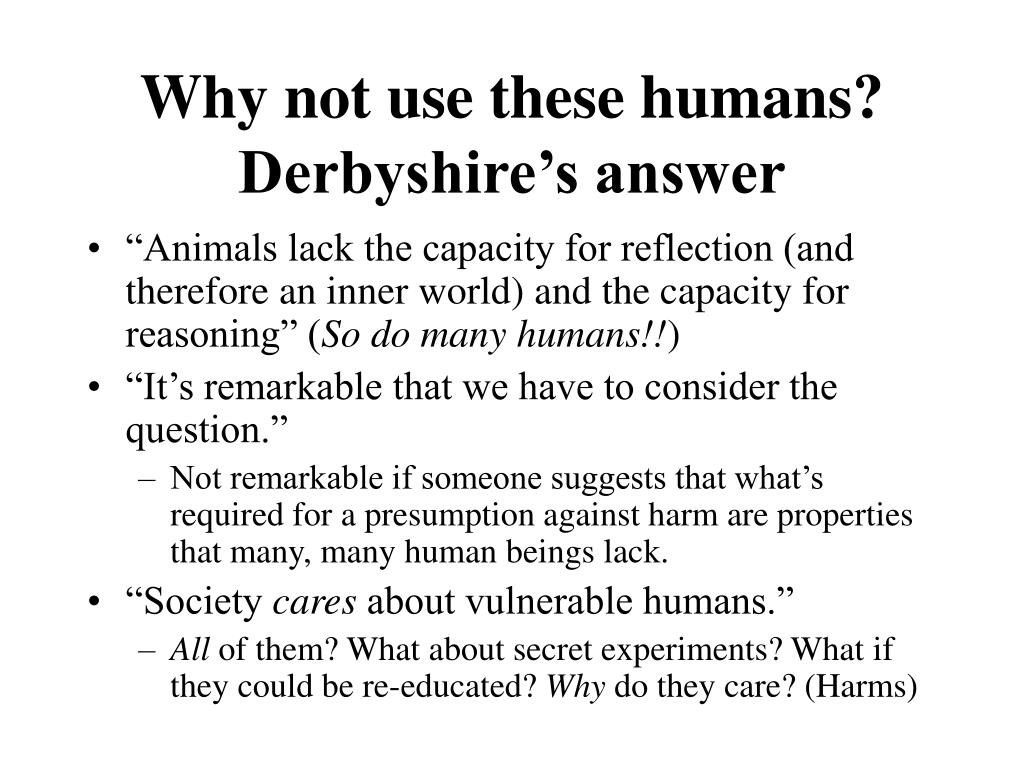 Why not use these humans?