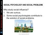 social psychology and social problems
