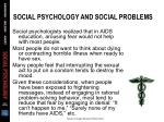 social psychology and social problems47