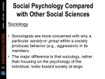 social psychology compared with other social sciences21