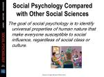 social psychology compared with other social sciences22