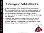 suffering and self justification