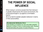 the power of social influence