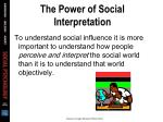 the power of social interpretation