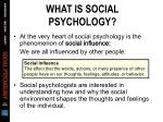 what is social psychology4