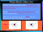 photo electric effect iv