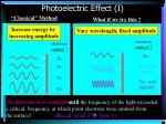 photoelectric effect i