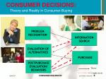 consumer decisions theory and reality in consumer buying