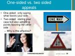 one sided vs two sided appeals