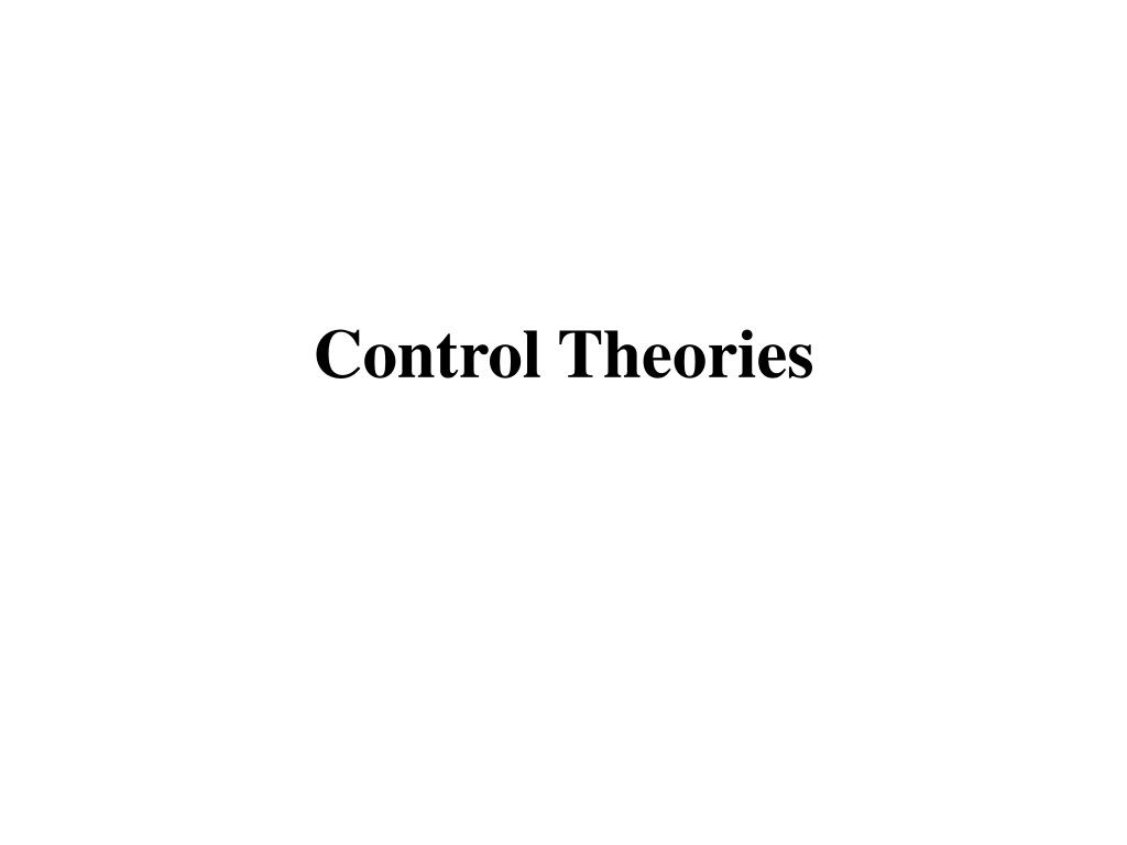 control theories l.