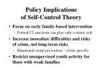 policy implications of self control theory