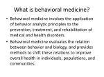 what is behavioral medicine