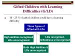 gifted children with learning difficulties g ld
