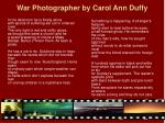 war photographer by carol ann duffy8