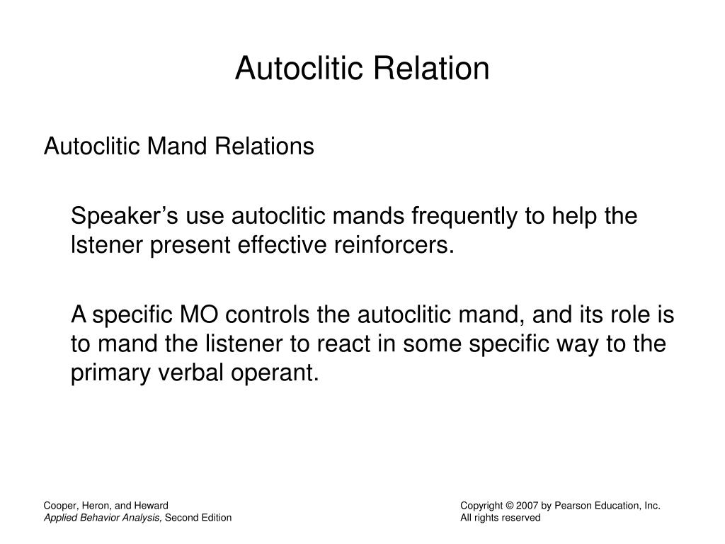 Autoclitic Relation