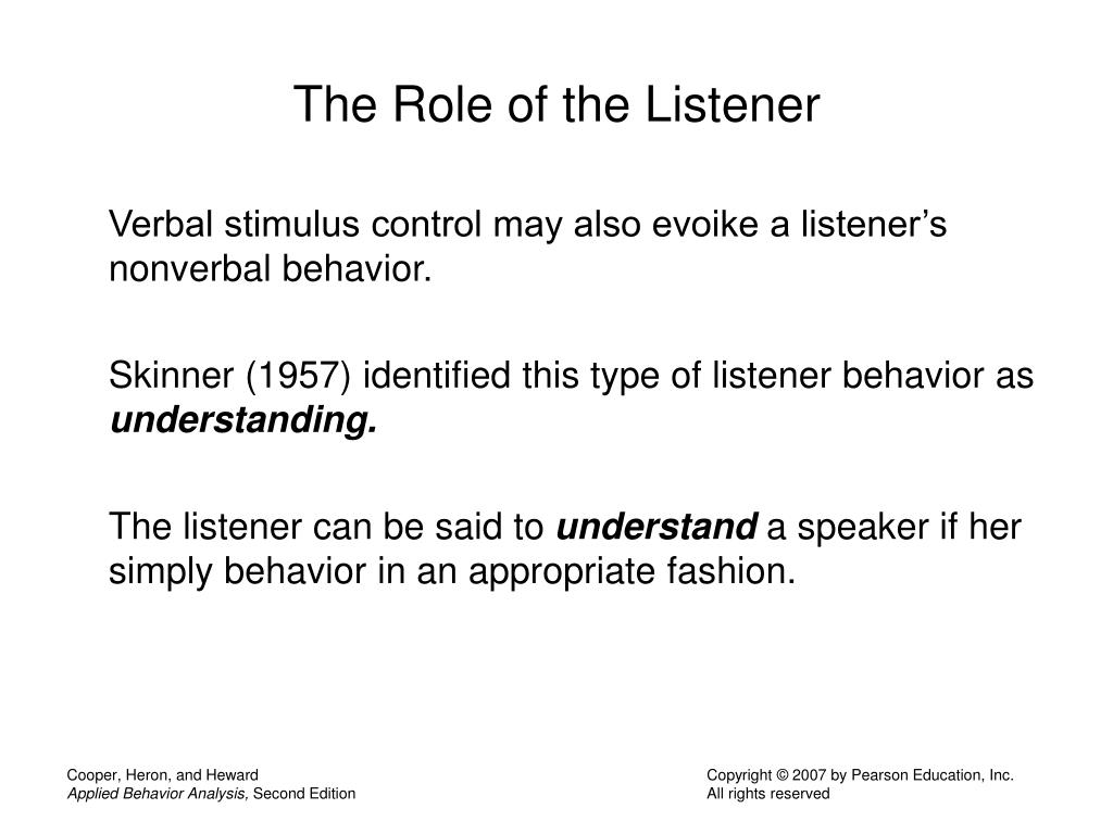 The Role of the Listener