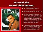 external aid gamal abdul nasser