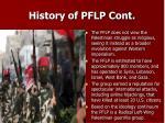 history of pflp cont