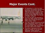 major events cont