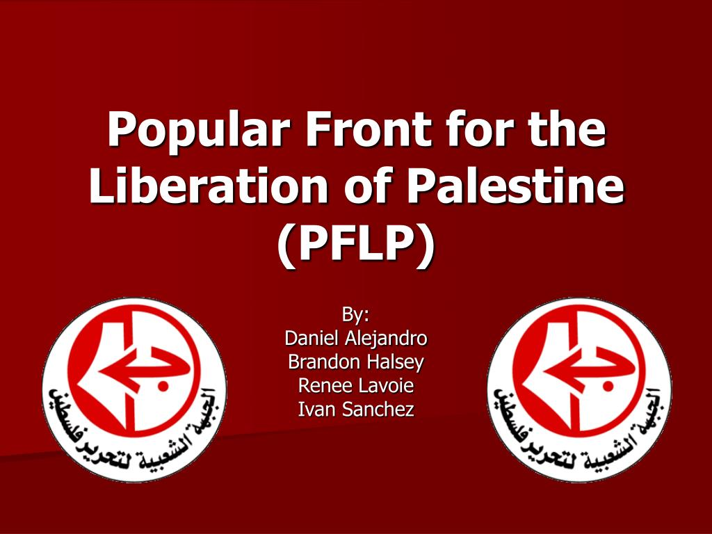 popular front for the liberation of palestine pflp l.