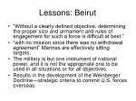 lessons beirut