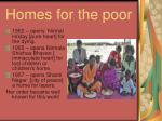 homes for the poor