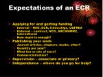 expectations of an ecr