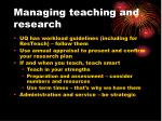 managing teaching and research