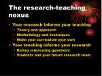 the research teaching nexus