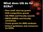 what does uq do for ecrs